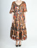 Saint Laurent Vintage Tribal Print Chiffon Maxi Dress - Amarcord Vintage Fashion  - 8
