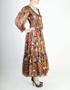 Saint Laurent Vintage Tribal Print Chiffon Maxi Dress - Amarcord Vintage Fashion  - 3