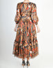 Saint Laurent Vintage Tribal Print Chiffon Maxi Dress - Amarcord Vintage Fashion  - 10
