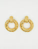YSL Vintage Gold Dangle Hoop Earrings - Amarcord Vintage Fashion  - 2