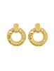 YSL Vintage Gold Dangle Hoop Earrings - Amarcord Vintage Fashion  - 1