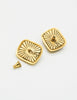 YSL Vintage Gold Resin Earrings - Amarcord Vintage Fashion  - 4
