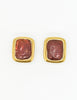 YSL Vintage Gold Resin Earrings - Amarcord Vintage Fashion  - 2
