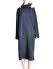 Yohji Yamamoto Vintage Navy Blue Buckle Dress - Amarcord Vintage Fashion  - 1