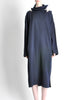 Yohji Yamamoto Vintage Navy Blue Buckle Dress - Amarcord Vintage Fashion  - 2