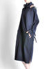 Yohji Yamamoto Vintage Navy Blue Buckle Dress - Amarcord Vintage Fashion  - 5