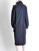 Yohji Yamamoto Vintage Navy Blue Buckle Dress - Amarcord Vintage Fashion  - 7
