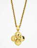 Chanel Vintage Gold CC Logo Crest Flower Necklace - Amarcord Vintage Fashion  - 2