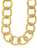 Chanel Vintage Gold CC Logo Chain Link Necklace - Amarcord Vintage Fashion  - 2