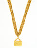 Chanel Vintage Gold Quilted Handbag Necklace - Amarcord Vintage Fashion  - 2