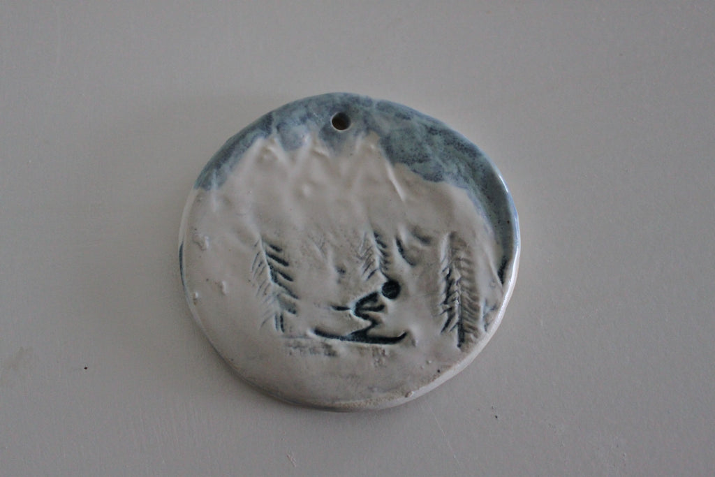 pottery ornaments or gift tags