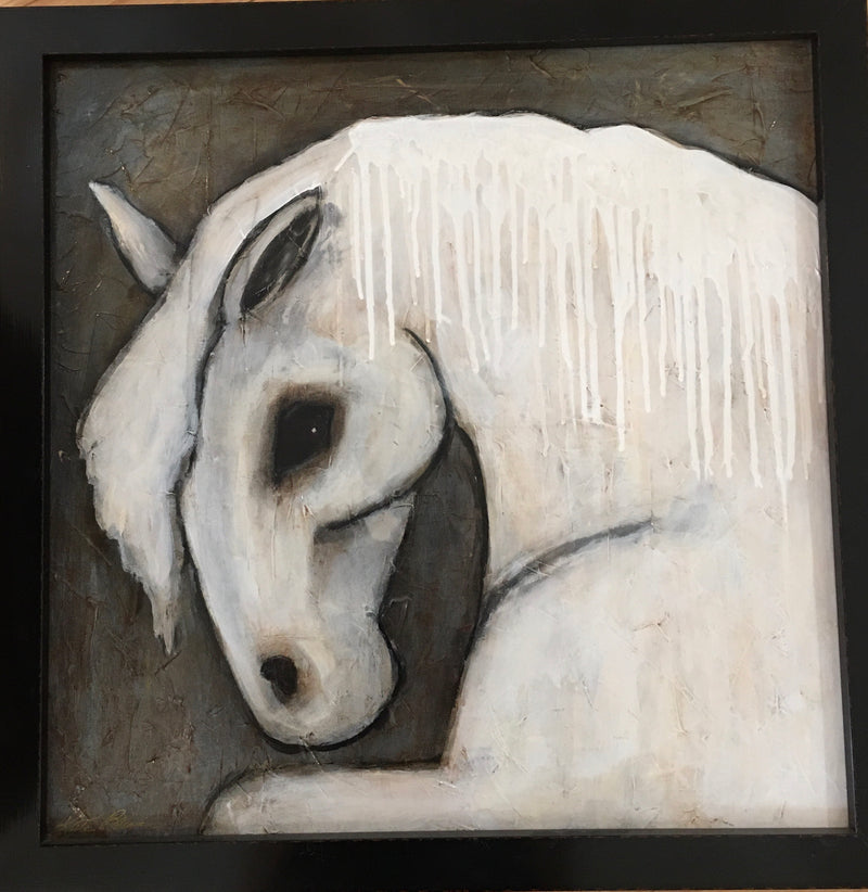 Framed Spirit Horse, 24x24""