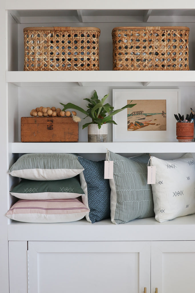 Shelving Styling-City Farmhouse and Co. Pillow Shop