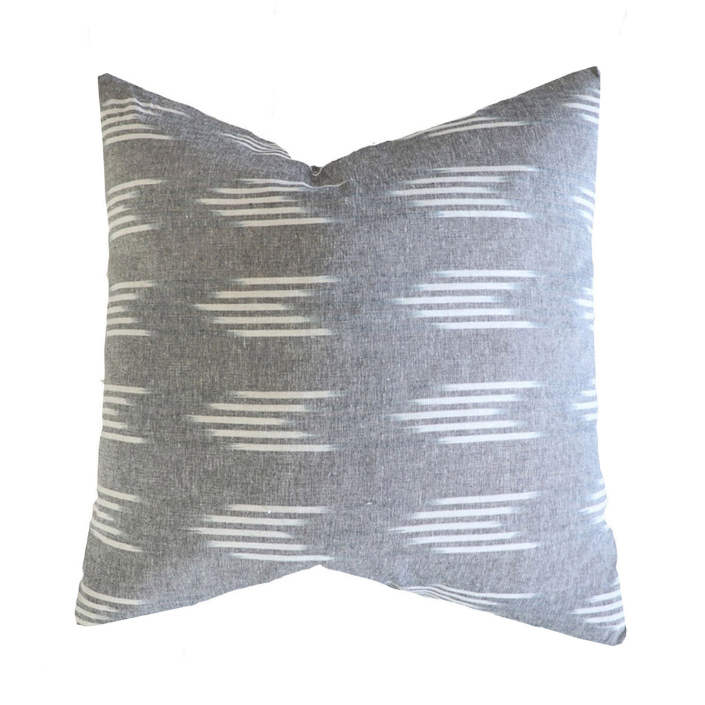 Handcrafted Monterey Pillow Cover In Gray-Monterey-The Montara Collection