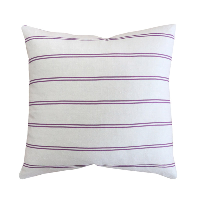 Handcrafted Surfside Stripe Pillow Cover In Berry-Surfside Stripe-The Montauk Collection