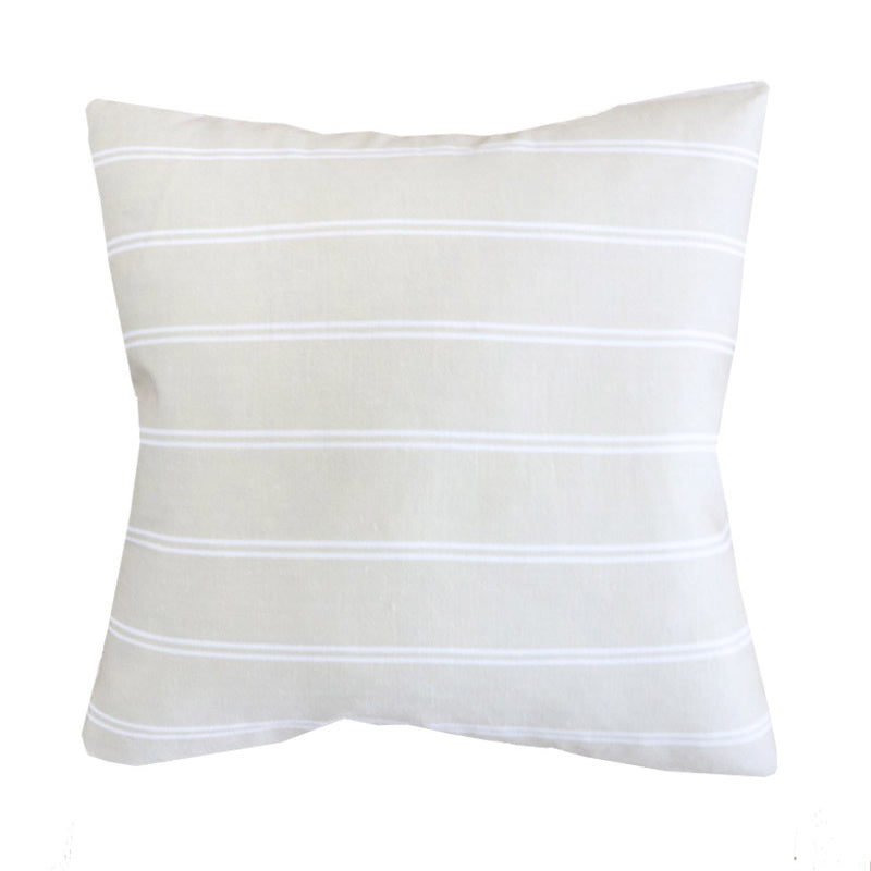 Handcrafted Surfside Stripe Pillow Cover In Dune-Surfside Stripe-The Montauk Collection