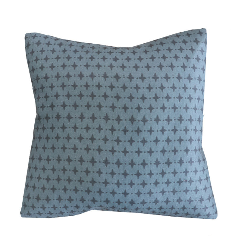 Handcrafted Emerson Petite Diamond Pillow Cover In Dark Sea-Emerson Petite Diamond-The Montauk Collection