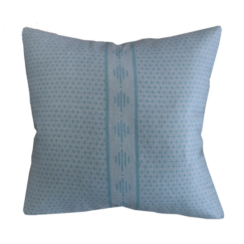 Handcrafted Startop Diamond Pillow Cover In Storm Blue-Startop Diamond-The Montauk Collection