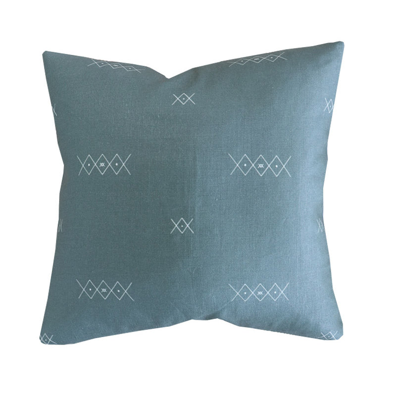 Handcrafted Hopkins Diamond Pillow Cover In Grass Green -Hopkins Diamond-The Montauk Collection