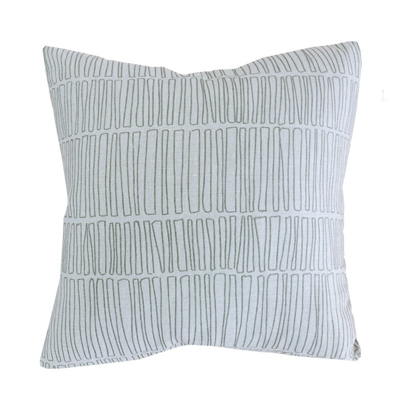 Handcrafted Emey Pillow Cover In Sage-Emey-The Montauk Collection