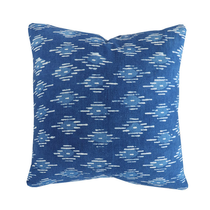 Handcrafted Lucia Pillow Cover In Indigo-Lucia-The Montauk Collection