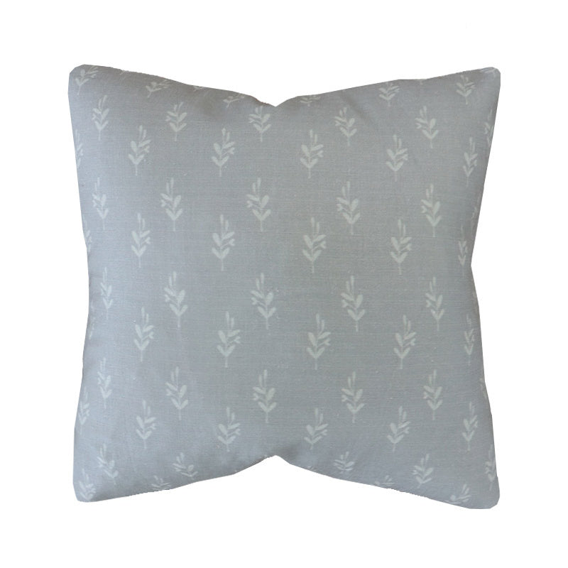 Handcrafted Floral Linen Pillow Cover. Bayberry in Sage-Montauk Collection