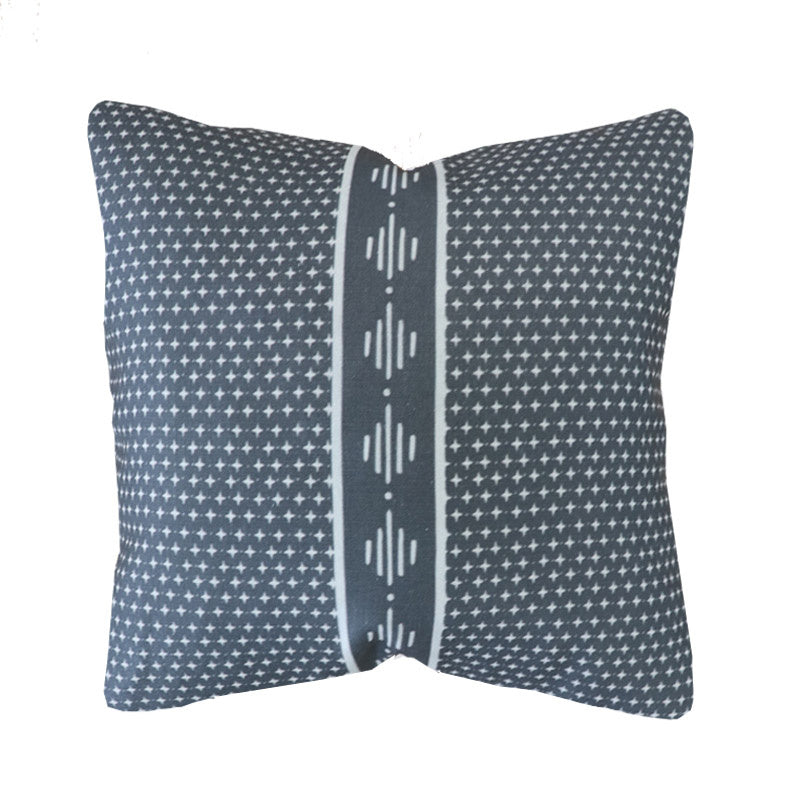 Handcrafted Startop Diamond Pillow Cover In Night-Startop Diamond-The Montauk Collection