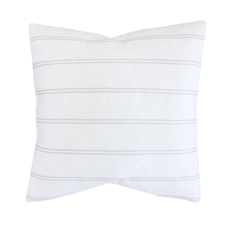 Handcrafted Surfside Stripe Pillow Cover In Sand-Surfside Stripe-The Montauk Collection
