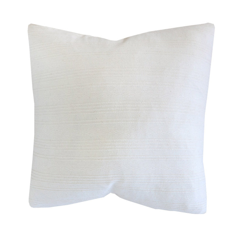 Quilted Cream Cotton Pillow Cover-City Farmhouse and Co. Pillow Shop