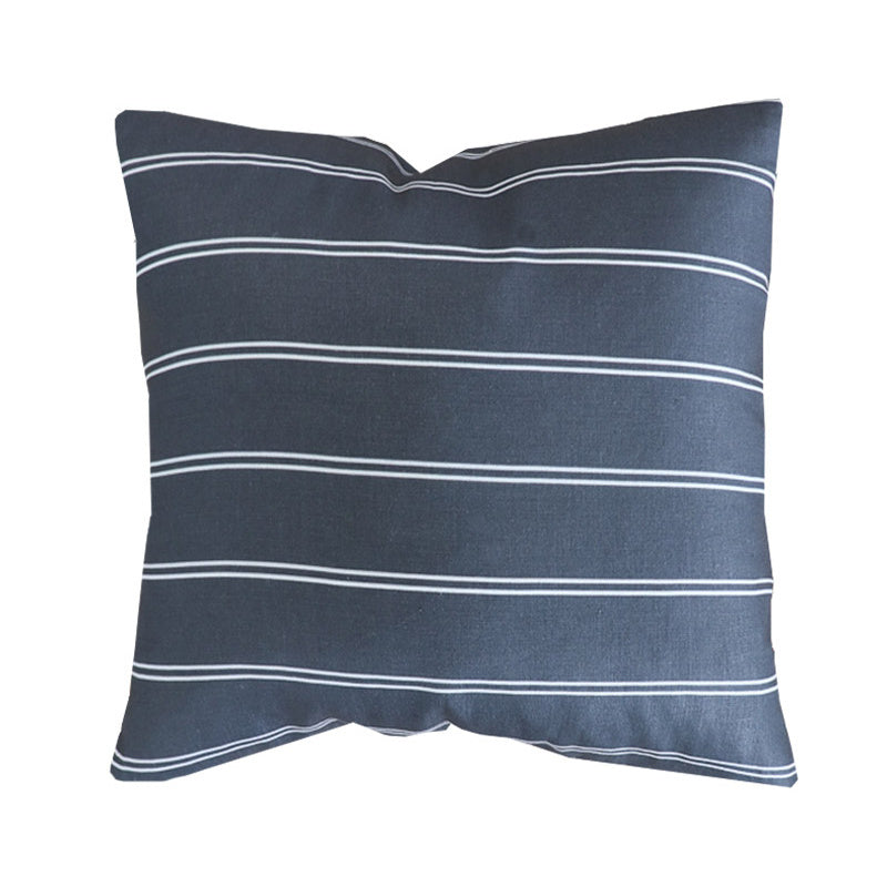 Handcrafted Surfside Stripe Pillow Cover In Indigo-Surfside Stripe-The Montauk Collection
