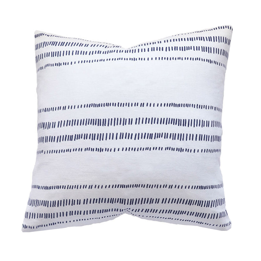 Handcrafted Glennmore Pillow Cover In Indigo-Glennmore-The Montauk Collection