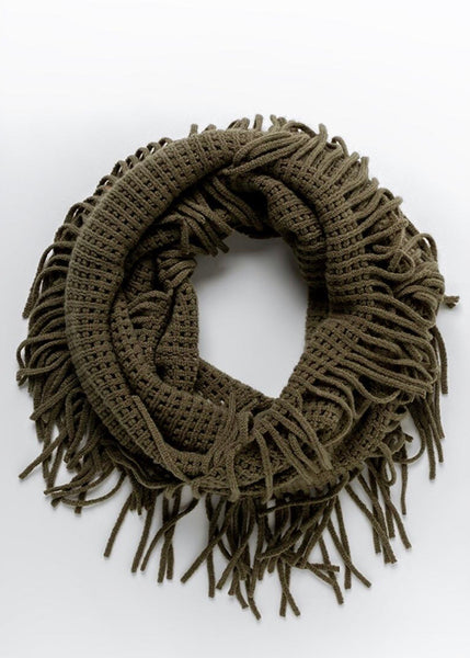 Winter Olive Infinity Scarf