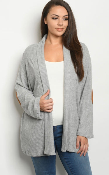 Grey Patches Cardigan