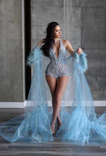 Elsa Jumpsuit & Cape - Custom Made