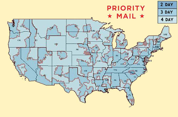 USPS Priority Map