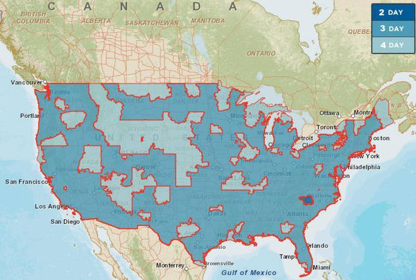 Shipping Time MostlyDeadcom - Ups Service Map Of The Us