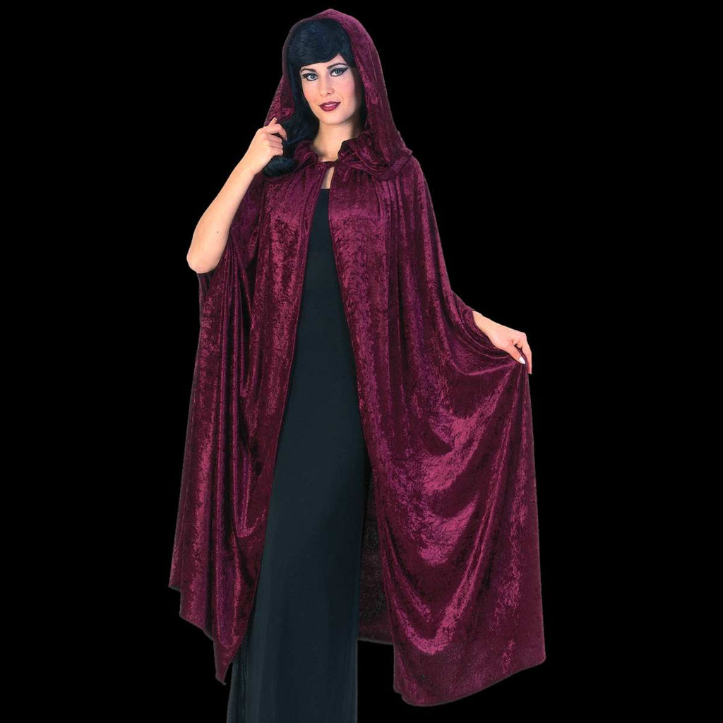 Burgandy hooded cape
