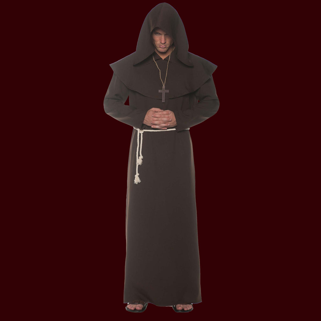Costume monk robe in brown