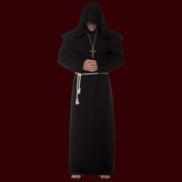 Costume monk robe in black