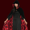 Velvet & Satin Flocked Cape Red Lining