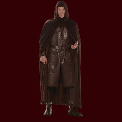 Brown hooded costume cape