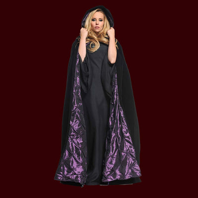 Velvet Cape with Embossed Purple Lining