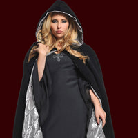 Velvet Cape with Embossed Silver Lining