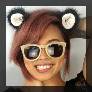 Panda clip-on ears
