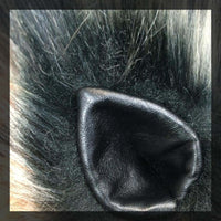 Black Leather clip-on ears