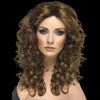 long curly brown wig