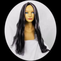 Black and grey witch wig
