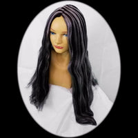 costume wig black and grey