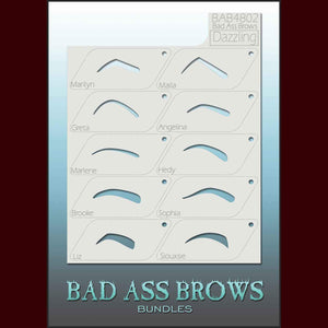 Dazzling fashion eyebrow stencils