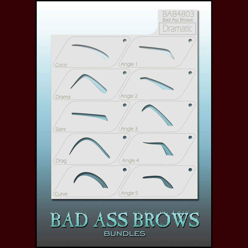 Dramatic eyebrow stencils